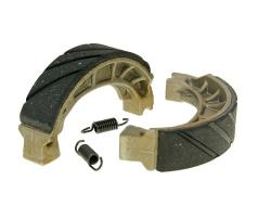 Brake shoe set grooved with springs 110x25mm