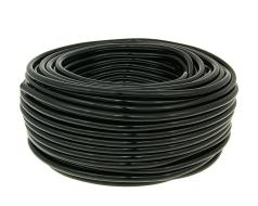 Fuel hose black 50m reel - 5mm inner, 9mm outer diameter