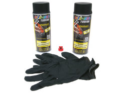 Strippable lacquer set Dupli-Color Sprayplast black mat 2x400ml
