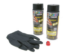Strippable lacquer Dupli-Color Sprayplast set black glossy 2x400ml