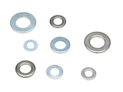 Flat washers DIN125 zinc plated / galvanized or stainless steel