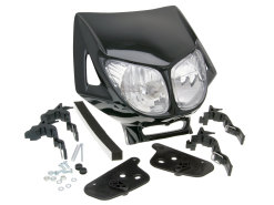 Headlight mask Enduro dual optics black