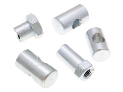 Brake cable adjuster nuts and barrels (various sizes)