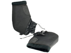 Bar mitts / hand warmers S-Line with fleece lining, black
