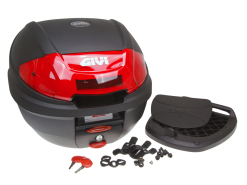 Top Case GiVi E300N2 Monolock scooter trunk black 30L capacity
