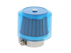 Air filter Air-System metal gauze filter 38mm straight version blue shield